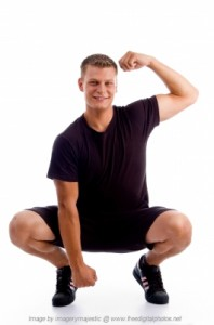 Man squating