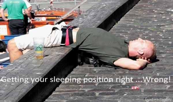 bad sleeping position